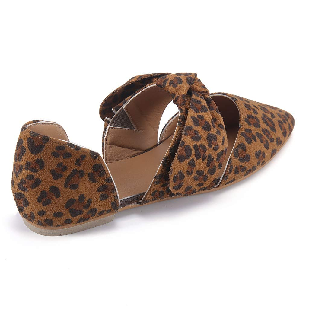 Amazon.com: YKARITIANNA Fashion Summer Flat Casual Shoes Leopard Bow Pointed Toe Pumps Womens Shoes: Arts, Crafts & Sewing