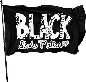 Black Lives Matter BLM Garden Flag Parade with Fade-Resistant Flag Outdoor Decor of 3 X 5 Ft