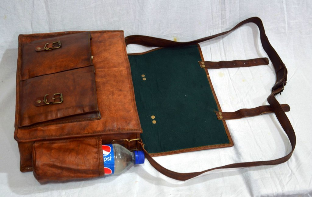 Messenger of Leather Handmade Vintage Leather Briefcase for Men & Women. 11'' x 15'' x 4.5'' by Messenger of Leather (Image #4)