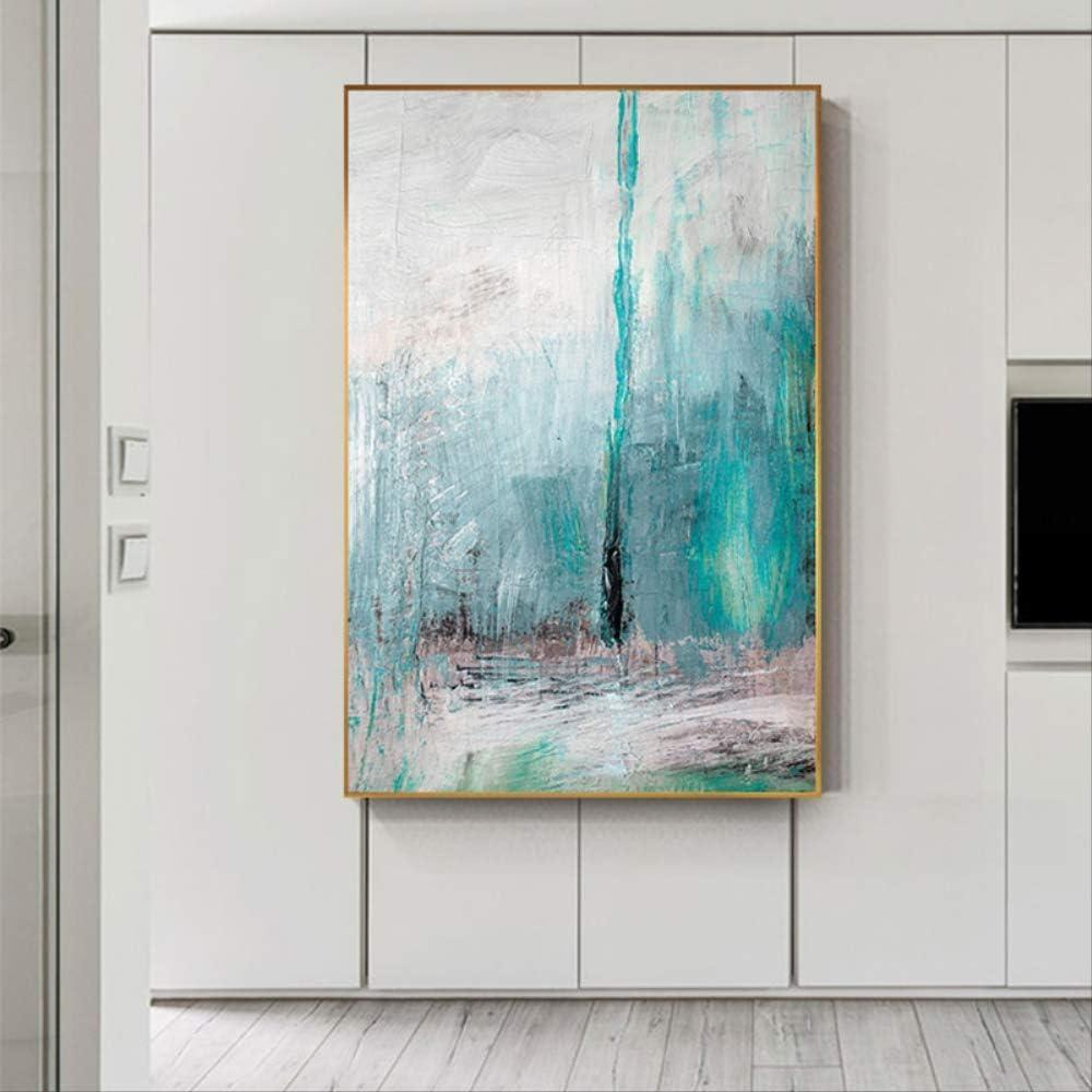 LWJZQT Cuadro sobre Lienzo Abstracto Famoso Color Verde Soñadora Pintada Lienzo Pintura Cartel Impresión Arte Moderno Pared Cuadros para Sala De Estar Decoración del Hogar 60×80Cm