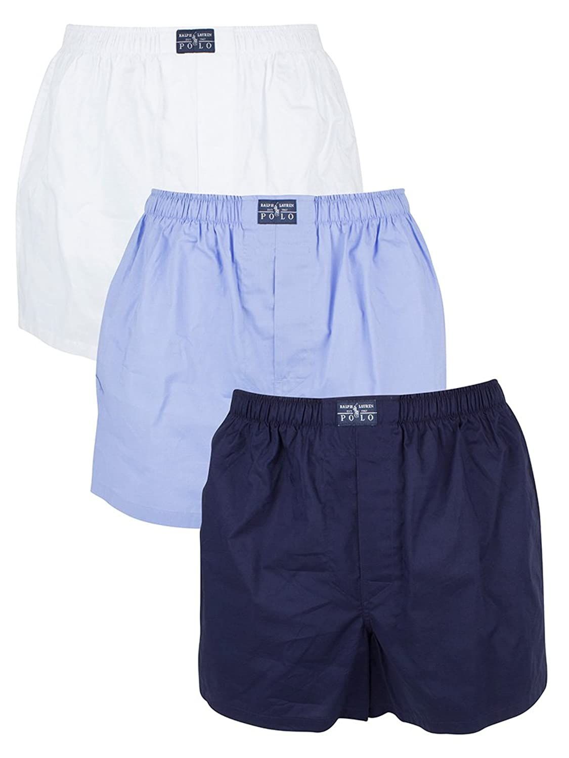 Polo Ralph Lauren Herren 3er-Pack Woven Logo Trunks, Mehrfarbig