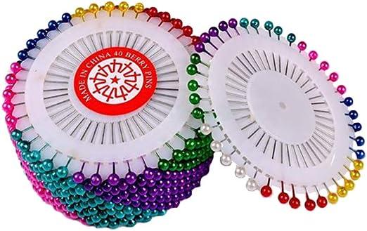 Healifty - 40 pines de costura de plástico con cuentas de colores ...