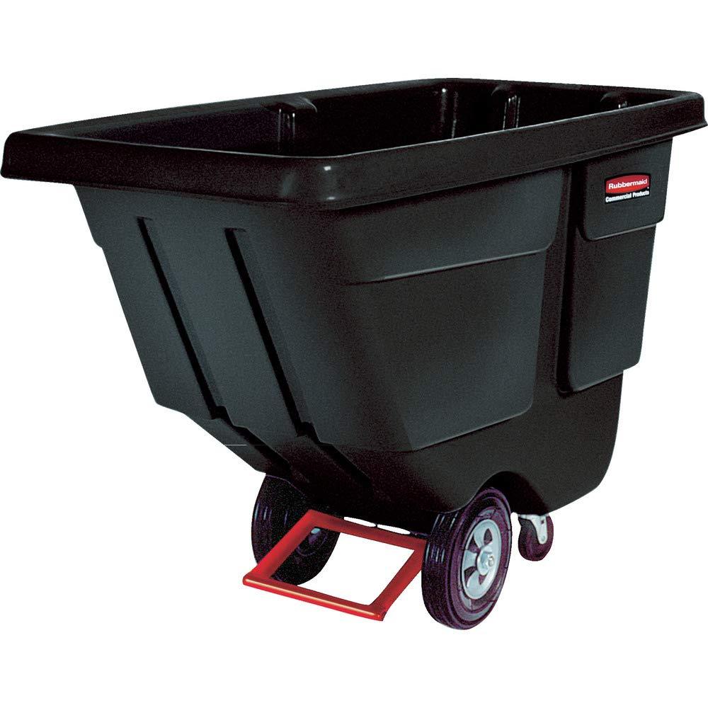 Rubbermaid Commercial FG130400BLA Polyethylene Tilt Dump Truck, 450-Pound Capacity, Black