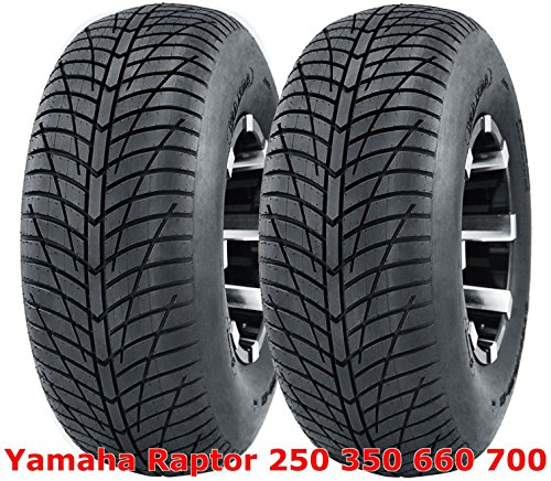 (2) Yamaha Raptor 250 350 660 700 Rear 20x10-9 20x10x9 Hi-Speed ATV Tires (Raptor 350 Yamaha Rims)