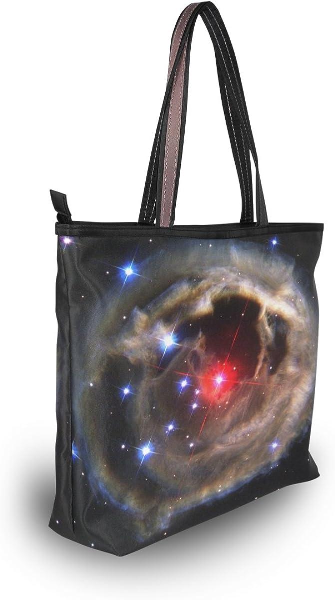 WIHVE Unicorn Constellation Galaxy Space Womens Tote Bag Top Handle Satchel Handbags Shoulder Bags
