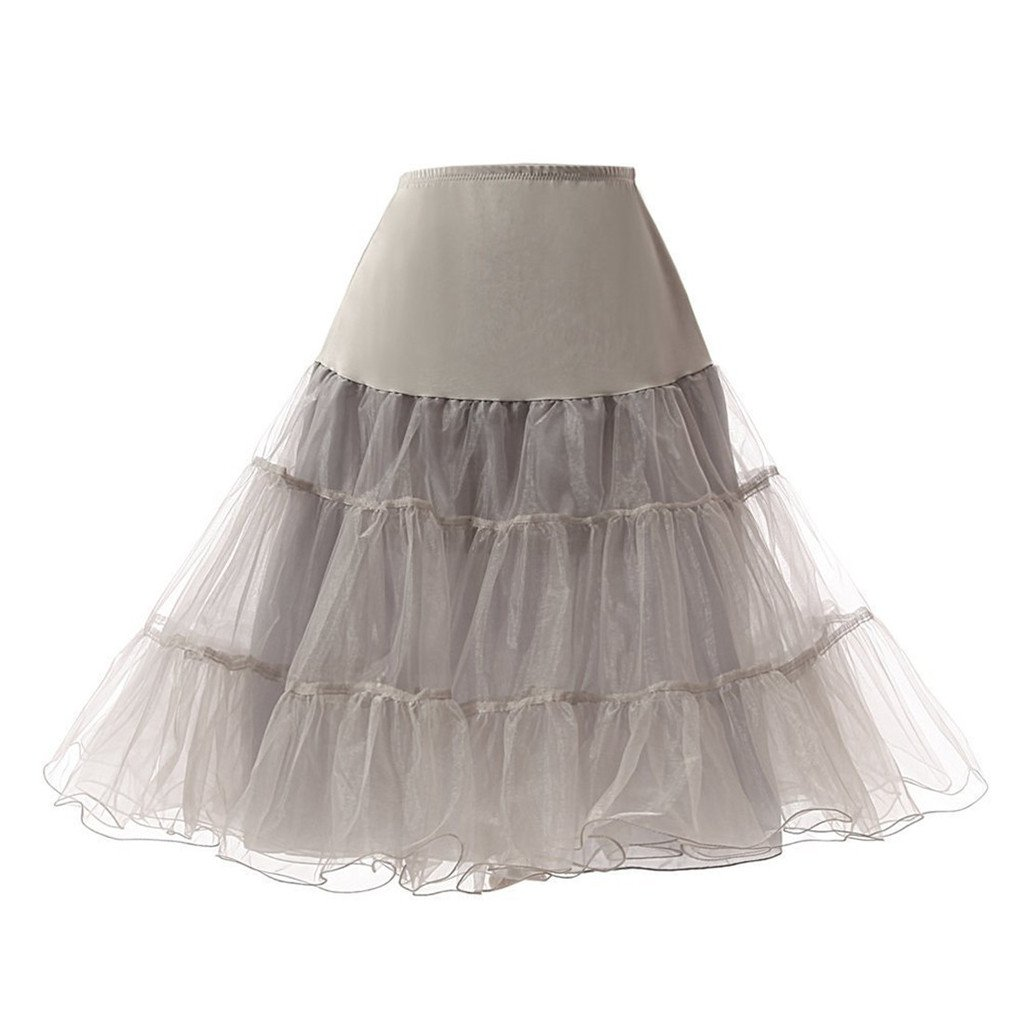 Dzdress Womens 50s Vintage Petticoat Crinoline Tutu Underskirts DZL001