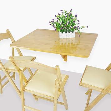MOM Mesa pequeña - Mesa plegable de hojas y hojas montada en la ...