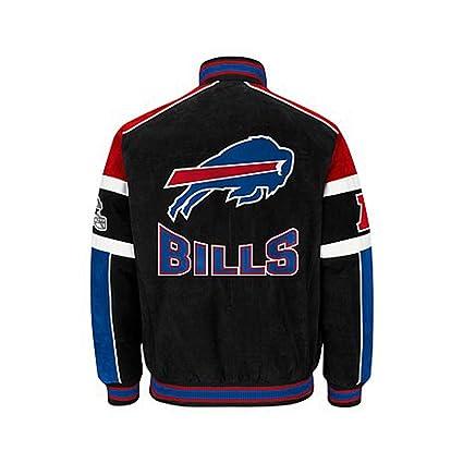 b98251be80b Amazon.com   Buffalo Bills Suede Leather Jacket Varsity Style Nfl ...