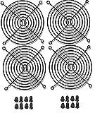 fan guard grill - 120mm Black Fan Grill / Guard with screws (4 pack)