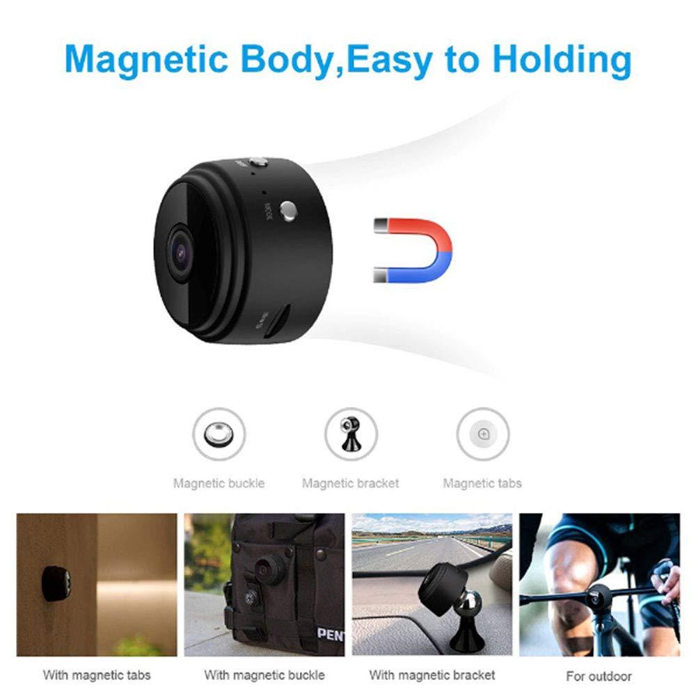 NBZH Mini Espía Cámara WiFi Oculta Cámara, Wireless HD 1080P Indoor Espía Cámaras De Seguridad De Cámara con Detección De Movimiento/Visión Nocturna para ...