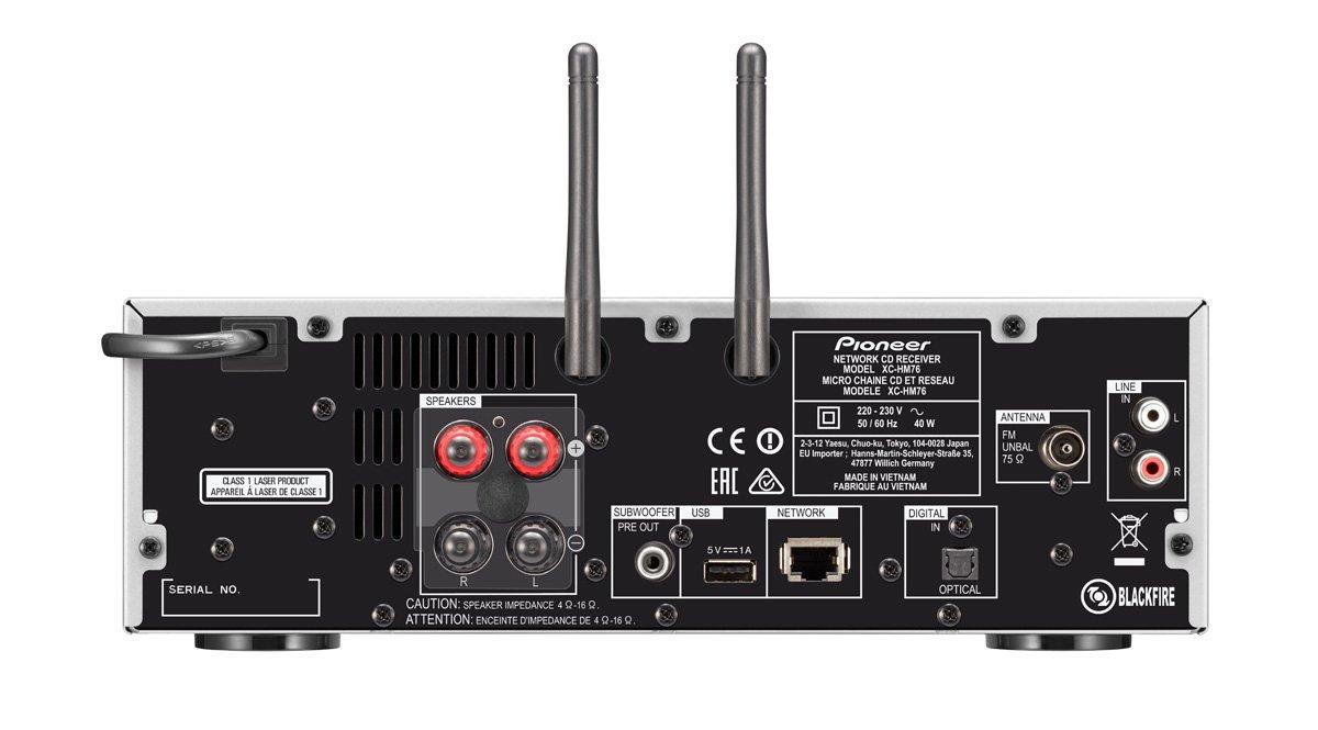 Pioneer X-HM76D-SW - Sistema Hight Micro (amplificadores Clase D y 50 x 2 vatios de Potencia, Radio Digital Dab, WiFi y Bluetooth): Amazon.es: Electrónica