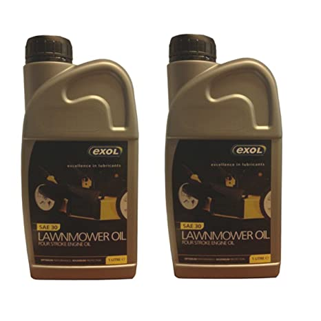 Aceite para máquina cortacésped de 4 tiempos de Exol, capacidad de 1 litro, aceite