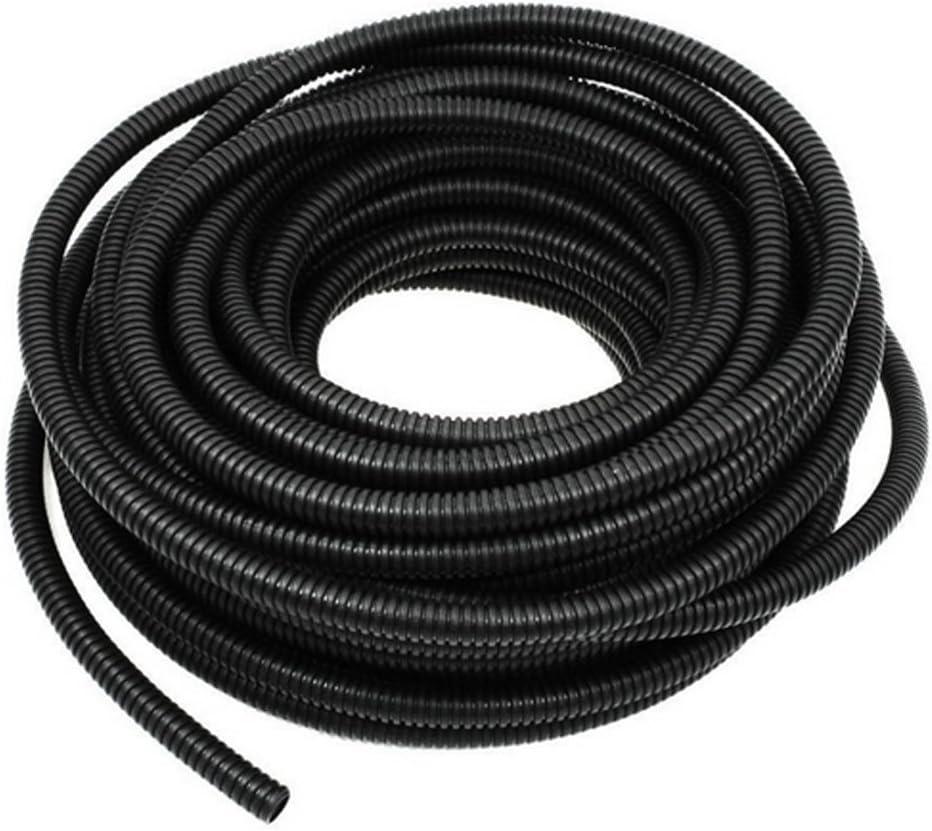 "10/' Feet FT 5//8/"" Black Split Loom Wire Flexible Tubing Conduit Hose Car Audio"