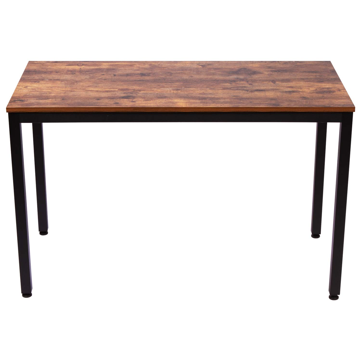 IRONCK Computer Desk, 47'' Office Desk with 0.7'' Thicker Tabletop 1.6'' Sturdy Metal Frame, Simple Study Table, Industrial Style Desk for Home Office, Matt Brown by IRONCK (Image #2)