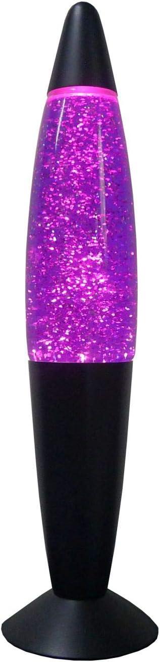Timmy Lampe /à paillettes r/étro violet//noir H 33 cm E14 Lampe /à lave d/écorative