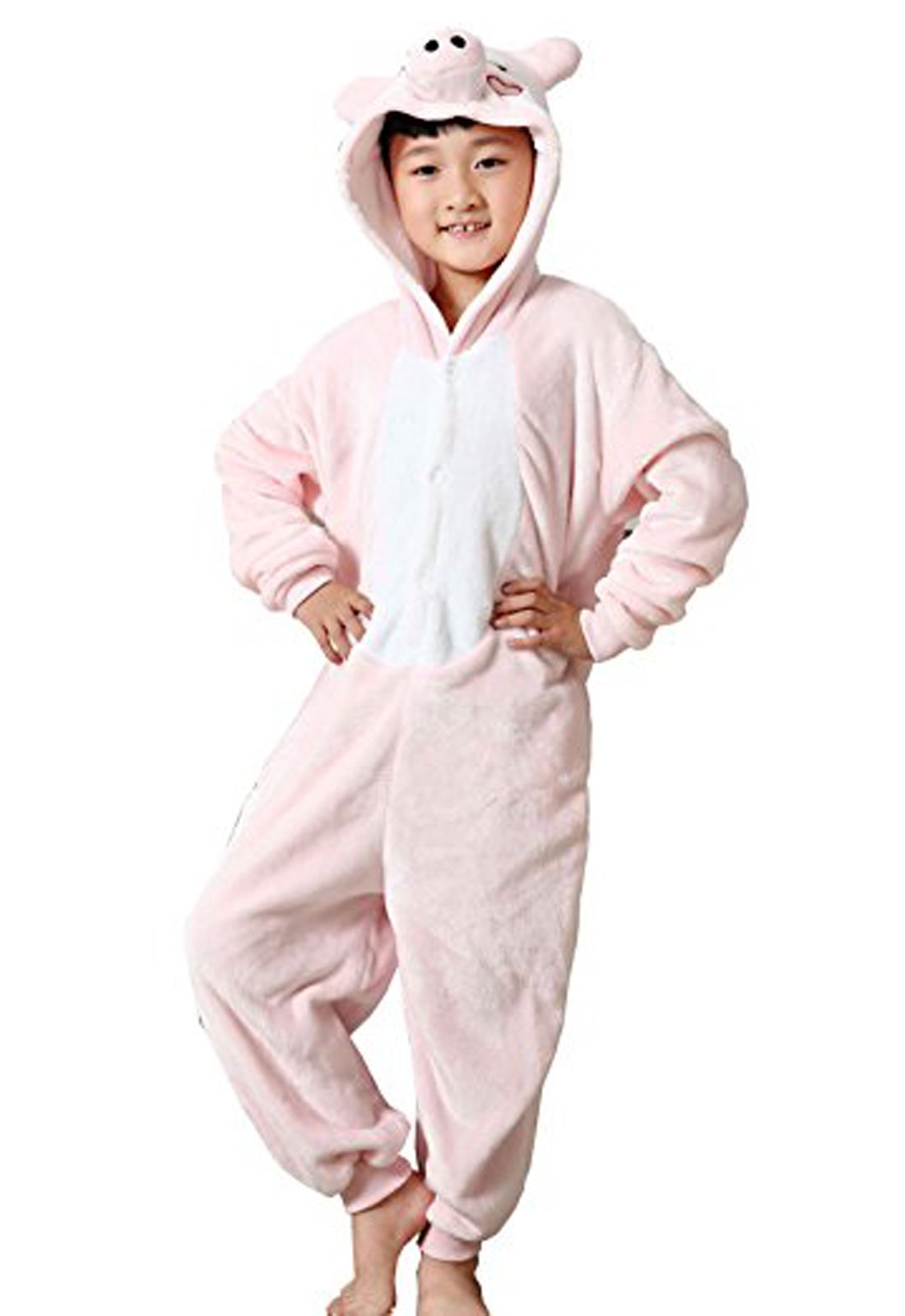 Eamaott Flannel Children Pig Cosplay Costume Christmas Onesie Pajamas Great Gift For Kids 95