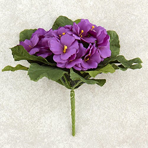 Factory direct silk flowers amazon factory direct craft purple poly silk artificial african violet bushes for indoor decor 2 bushes mightylinksfo