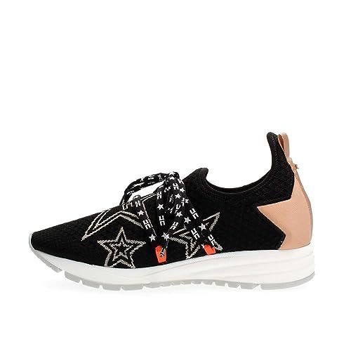 brand new c2374 79609 ELISABETTA FRANCHI Sneakers con stelle SA23W76E2 nero 37 ...