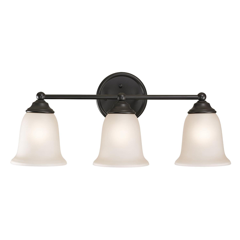 Cornerstone照明5653bb Sudbury 3ライト化粧台ライト、 10 x 23 x 23 x Inch 5653BB/10 1  オイルステイン仕上げブロンズ B010BU7EUC