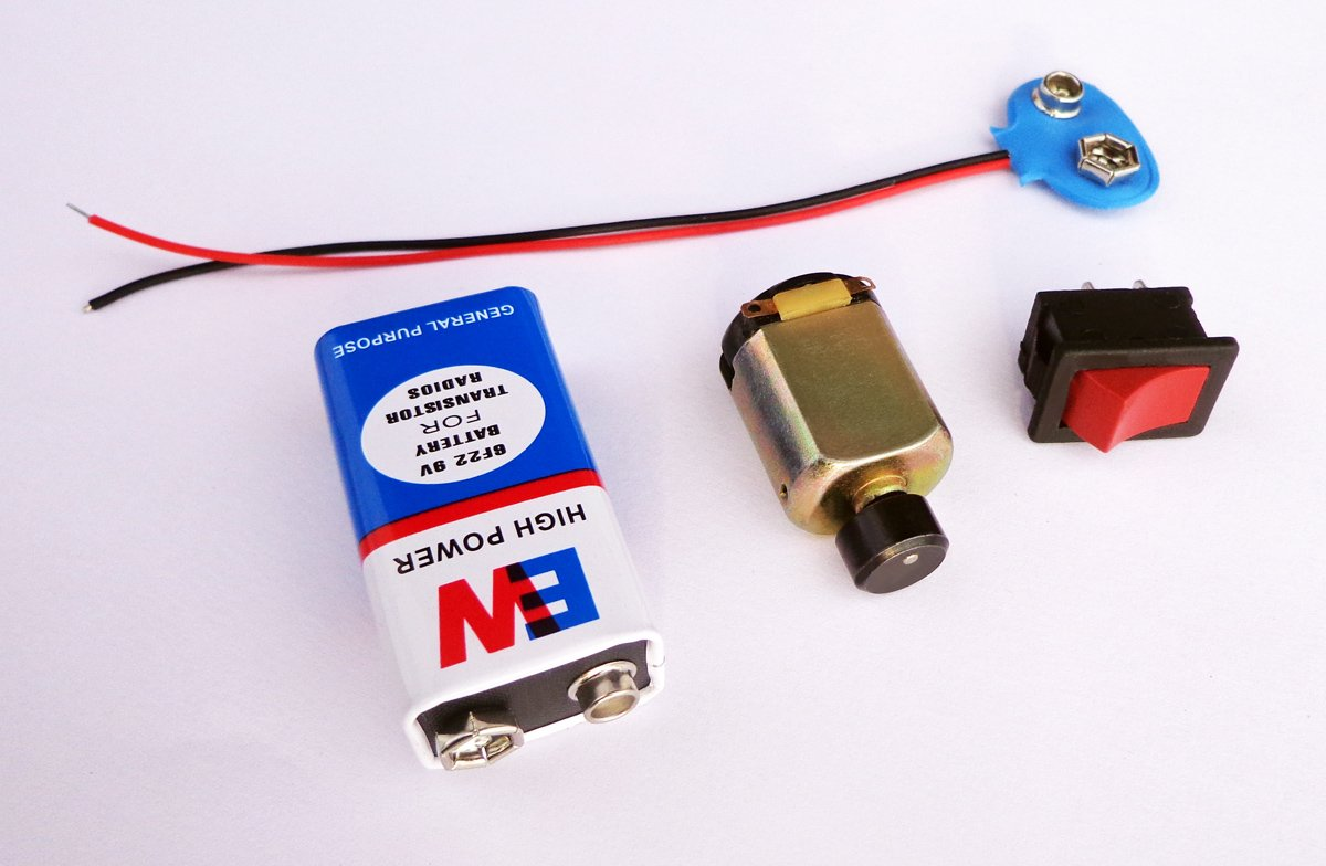Buy Vibration Dc Motor Switch 9v Battery Snap Connector With Wiring Diagram User Manual Online At Low Prices In India