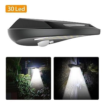Solarlampen Für Außen Solar Wandleuchte 30 Leds Lampe Mit