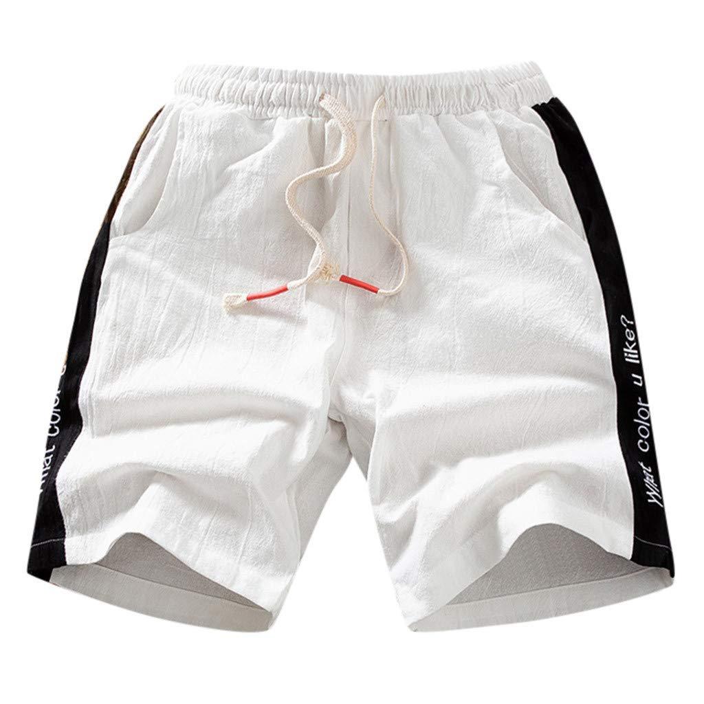 OGGI-Pantaloncini Semplice Pantaloncini da Uomo Traspiranti Pantaloni da Spiaggia Comodo Sportivo Shorts Bermuda Costume da Bagno Classico Taglia Grossa Tinta Unita Pantaloncini