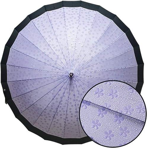 Japan Umbrella-Cherry Blossoms Umbrella-Premium Umbrella with Wooden Wood Handle and Protective Cover Purple