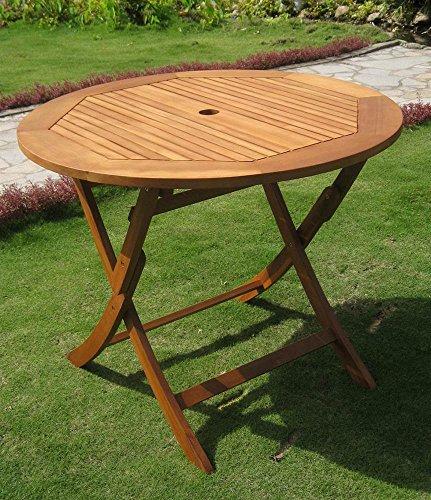 Balau Wood - International Caravan Balau Wood Folding Patio Table