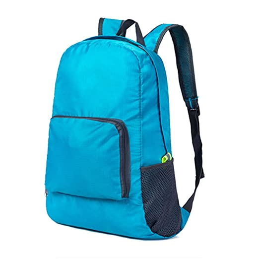 Quietcloud Foldable Space Saving Outdoor Rucksack Backpack Travel Hiking  Camp Cycling Bag (Blue) 5acf80263e4fc