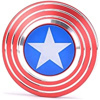 Captain America Shield Fidget Spinner, Cubur Metal 2 Sided Super Hero Metal Fidget Toy for Adults and Kids