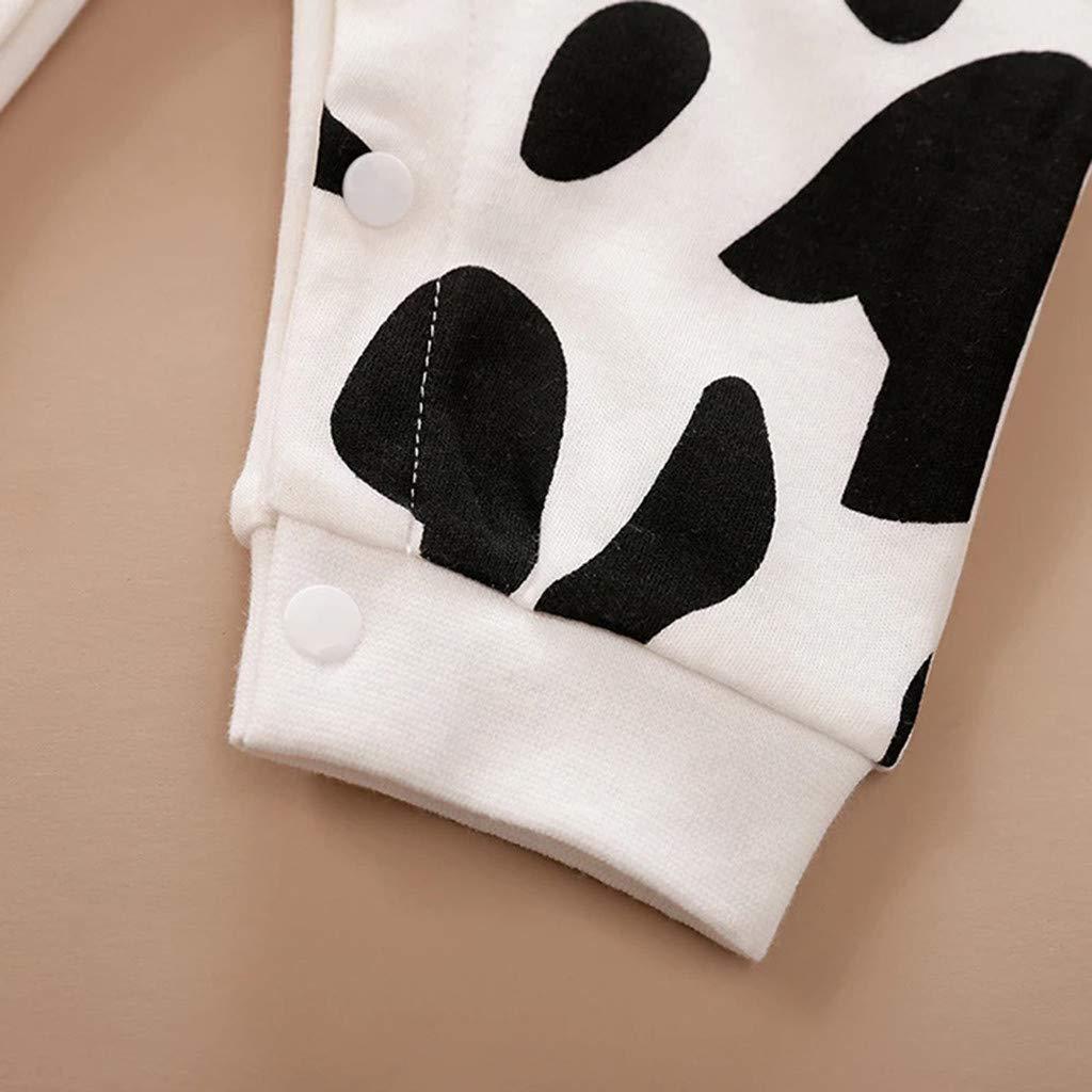 Combi-Pantalon Tenue Dessin Anim/é Imprimant V/êTements De Combinaison ASHOP B/éB/é Gar/çOns Filles Hiver Chaud Pull Adorable Manches Longues Barboteuses