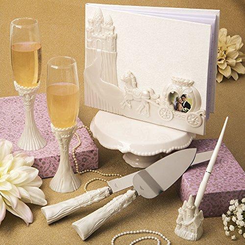 Fairy Tale Themed Wedding (Fairytale Design / Cinderella Themed Wedding Accessory Set Including Flute Set, Cake Knife Set, and Pen)