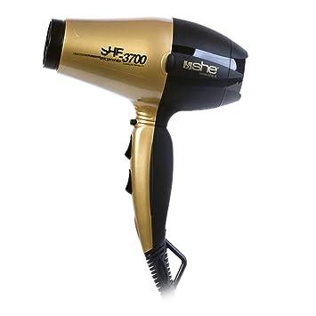 SHE she-3700.oro/nero secador de pelo, Oro/Negro: Amazon.es: Salud y cuidado personal