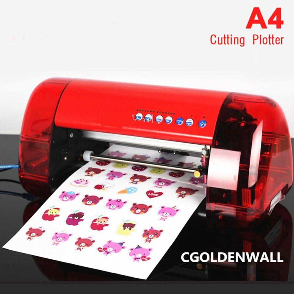 dc-240 A4 tamaño de corte plotter máquina de trinchar etiqueta marcador etiqueta hoja dibujar líneas máquina etiqueta corte máquina de posicionamiento óptico: Amazon.es: Bricolaje y herramientas