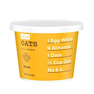 RXBAR, Rx A.M. Oats, Maple, 12ct, 2.18oz Cups, 12 Gluten Free Oatmeal Cups