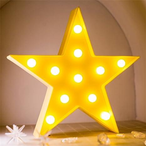 Estrellas Luz nocturna infantil, Noche Mesa de noche lámpara de ...