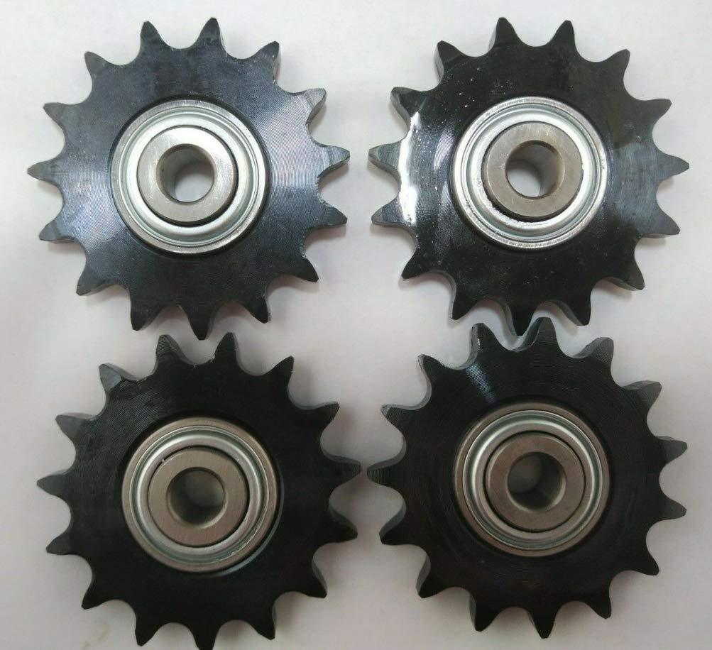 proven part Four Pack Roller Chain Idler Sprockets 1/2 Inch Bore Outside Diameter 3.17 Inches Replaces 126-9108 126-9274 116-6719 by proven part