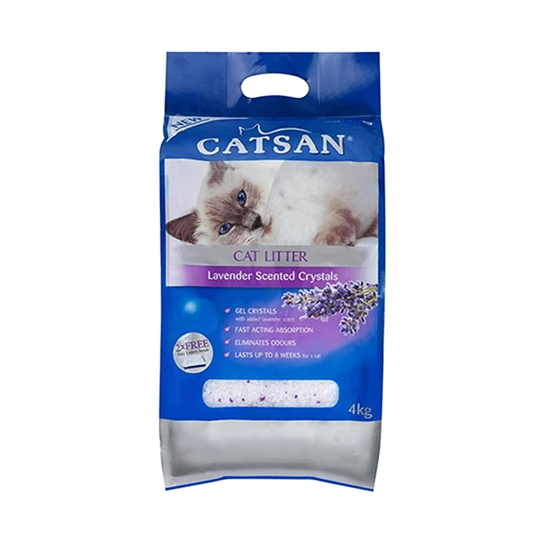 CATSAN Crystals Lavender Litter 2X4KG (270597) (CLCCLL2X4)