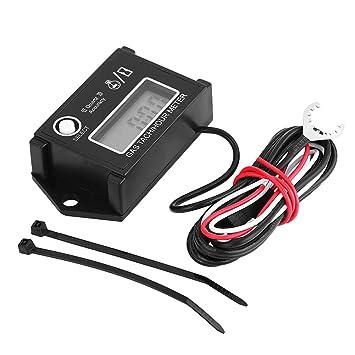 qiilu LCD Digital Tacómetro tacómetro láser/hora medidor ...