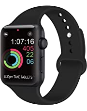 AK kompatibel Apple Watch Armband 42mm 38mm 44mm 40mm, Weiche Silikon Sport Ersatz Armband kompatibel iWatch Series 4, Series 3, Series 2, Series 1 S/M M/L