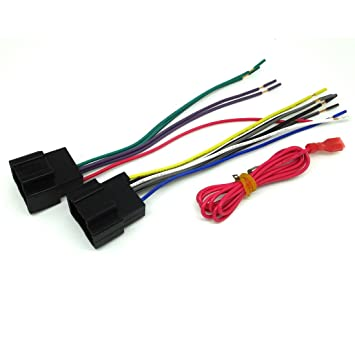 61nu0LRNVFL._SY355_ amazon com gm car stereo cd player wiring harness wire wire harness for aftermarket radio installation at bakdesigns.co
