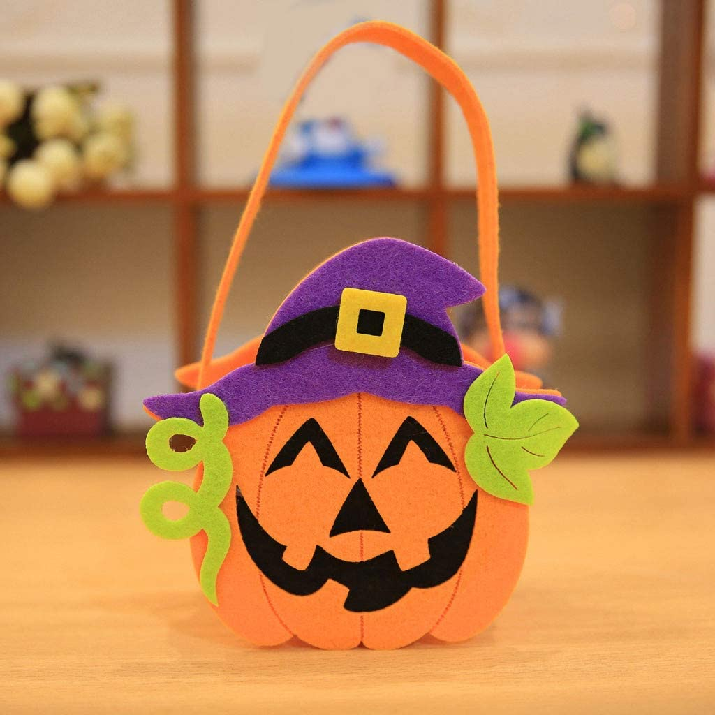 Orange B Fashion New Halloween Pumpkin Handbag Bags Funny Women and Men Single Shoulder Bags