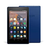"Fire 7 Tablet with Alexa, 7"" Display, 16 GB, Marine Blue — with Special Offers"
