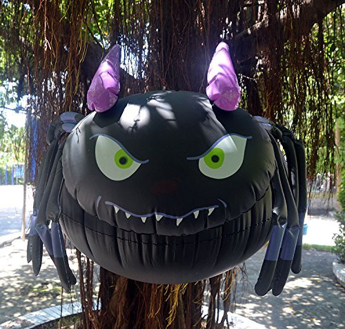 Halloween Decorations Thick inflatable black Spider Outdoor Yard Garden Classroom Hanging Decorations Bar Props Environmental protection PVC (Class Halloween Decorations)