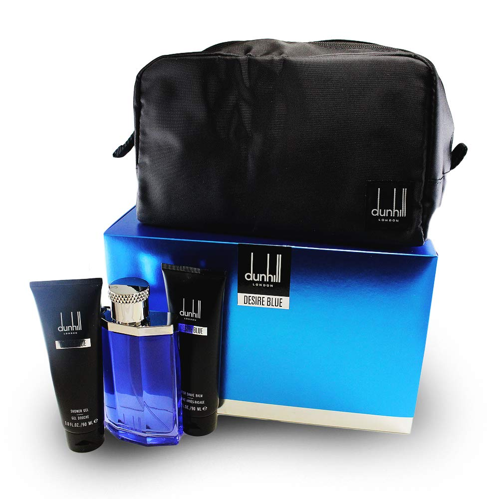 Alfred Dunhill Desire Blue 4 Piece Gift Set for Men, 3.4 Ounce