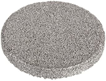"Sintered Metal 316L Stainless Steel Filter Disc, 1/2"" Diameter, 1/16"" Thick, 2 Micron Pore Size (Pack of 10)"