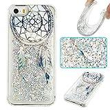 iPhone 5S Case,iPhone SE Case,Gift_Source Luxury Bling Glitter Sparkle Flowing Liquid Quicksand Design Soft Rubber Gel Cover TPU Bumper Case For iPhone SE/5/5s [Purple Dream Catcher]