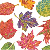 Entertaining with Caspari Jeweled Autumn Cocktail Napkins (Pack of 20), Multicolor