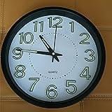 Luminova en métal Silencieux Horloge murale le salon chambre Lumineux Horloge murale Montre