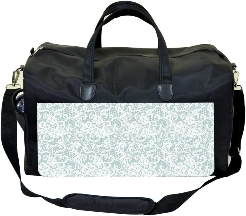 White Lace PRINT DESIGN Gym Bag